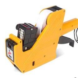 2316Two-line Prijs Labeler 10 cijfers tag sticker prijsstelling pistool, navulbare inkt roller prijstang Label productie datum
