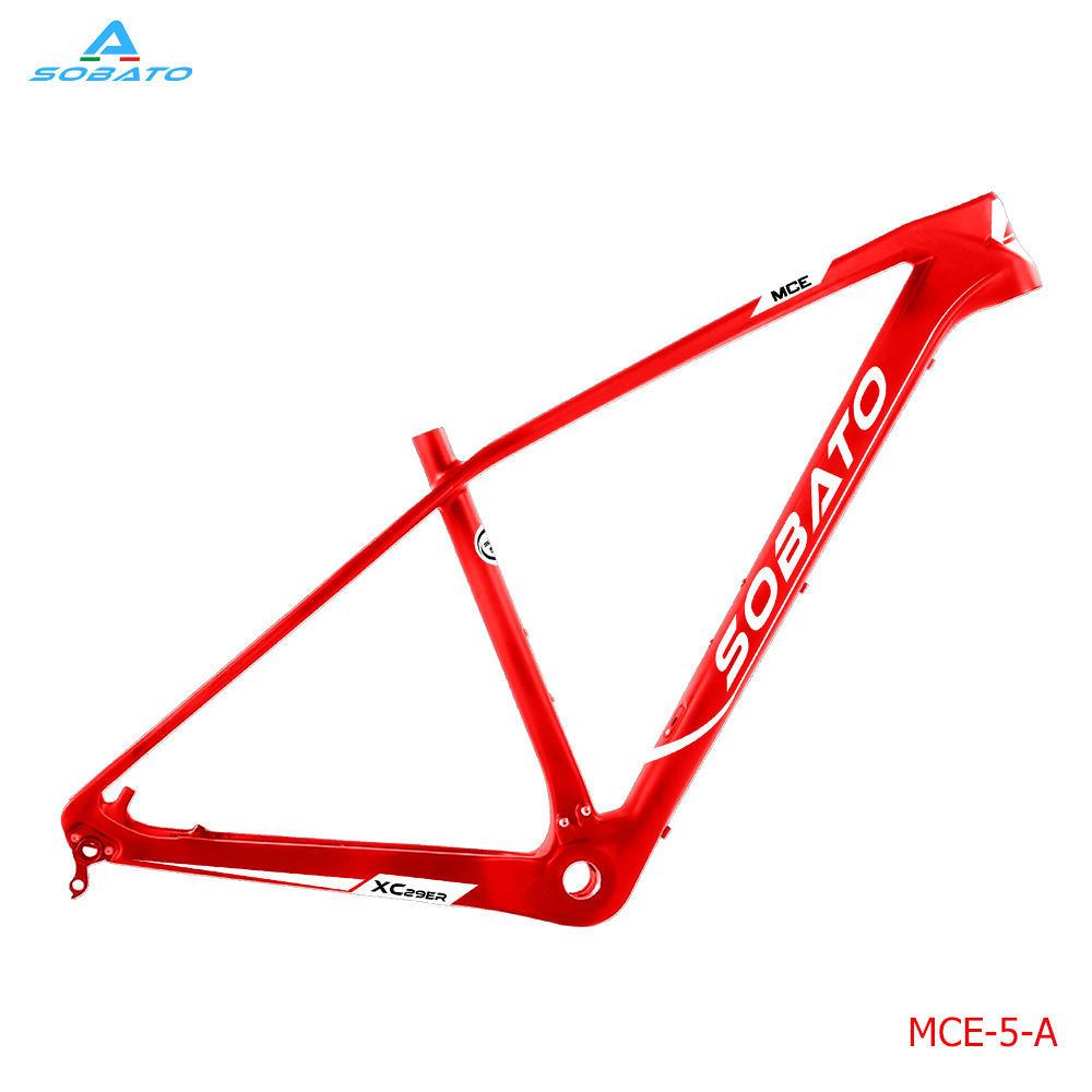 MCE 29ER MTB Bike T800 29er Carbon Frame Cycling Carbon Mountain Bicycle Frame with COMPACT Size 15/17