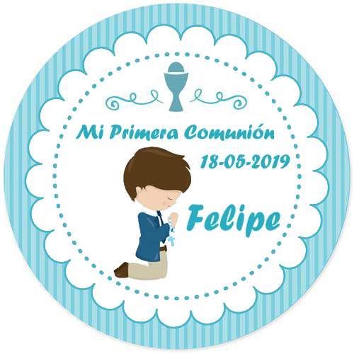 100 Pcs, Custom Personalized, Girl or boy First Communion Stickers, Personalized First Holy Communion Favor Labels,logo photo