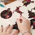 OurWarm 24 шт. Magic цвет царапин Рождество украшения милые Подвески «рулон бумаги» елка украшения детская вечеринка поставки - фото