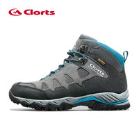 Clorts Waterproof Winter Sneakers for Men Genuine Leather Tactical Shoes Mountain Boots Man Breathable Hiking Shoes Outdoor Shoe