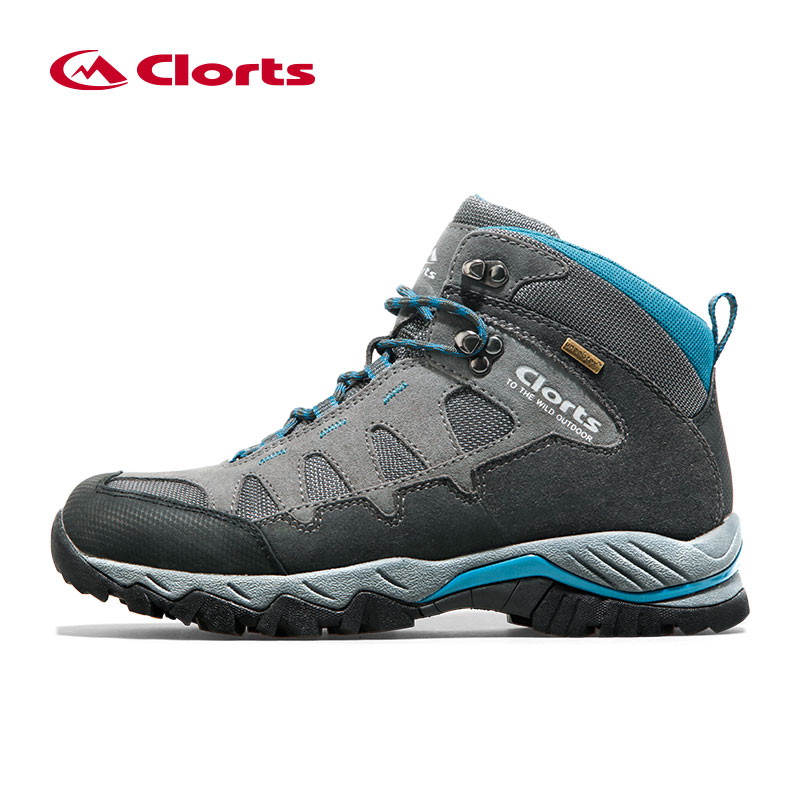 Clorts Winter Sneakers for Men Waterproof Genuine Leather Man Shoes Breathable Lace Up Hiking Shoes Sneakers