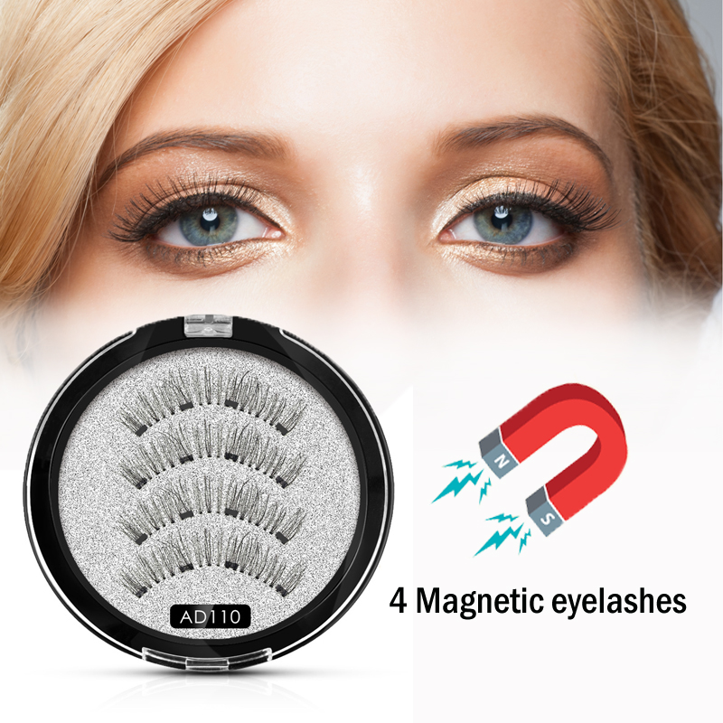 <font><b>Shozy</b></font> Handmade <font><b>magnetic</b></font> <font><b>eyelashes</b></font> with 4 magnets 3D <font><b>magnetic</b></font> lashes natural long false <font><b>eyelashes</b></font> magnet lash with gift box-AD110 image