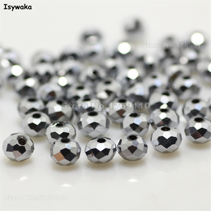 Beads Jewelry & Accessories Isywaka Non-hyaline White Ab Color 98pcs 4mm Round Austria Crystal Bead Ball Glass Bead Loose Spacer Bead For Diy Jewelry Making
