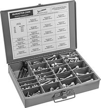 Socket Head Screw Assortment Metric Sizes, 288 Pieces, 18-8 Stainless Steel,M6 to M12 in 16 mm to 60 mm Lengths недорого