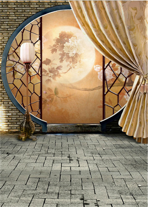 Retro Background Brick Wall Photo Studio Vintage Photography Backdrops Chinese Style Photo Props Vinyl 5x7ft or 3x5ft jiegq210 dark brown brick wall with white clock photography backdrops wedding background 200x300cm photo studio props fotografia