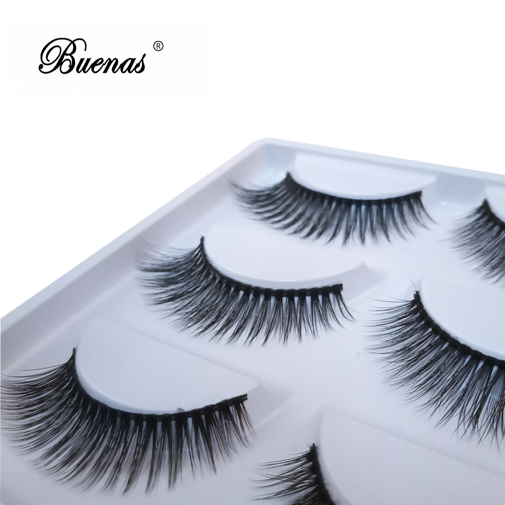 Buenas 5PairsBox  Is An Ideal Beauty Makeup Products With False Eyelashes To Extend Eyelashes Increase The Beauty Of The Eye