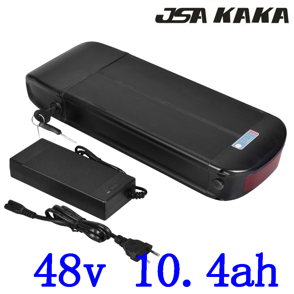48V scooter battery 48V 10.4AH ebike battery 48V Lithium battery 48v 10ah electric bicycle battery with charger and luggage rack48V scooter battery 48V 10.4AH ebike battery 48V Lithium battery 48v 10ah electric bicycle battery with charger and luggage rack