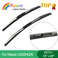 """Car winscreen Wiper blades for NISSAN QASHQAI(2013+), 16""""+26"""",3 Section Rubber, windshield, wiper rubber"""