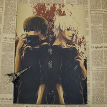 Tokyo Ghoul Vintage Poster Cafe Home Wall Decor Poster