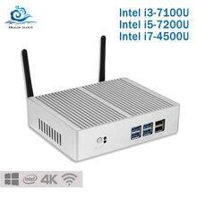 Cheapest Intel Core i5 7200U i3 7100U Fanless Mini PC Windows 10 Barebone Computer PC DDR3 2.40GHz 4K HTPC WiFi HDMI VGA USB