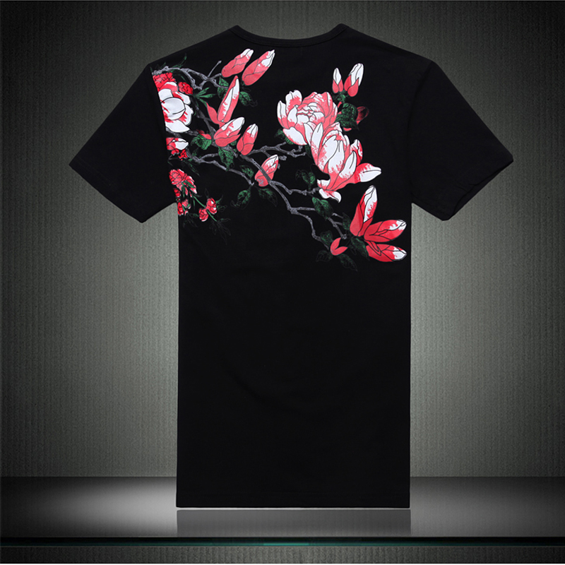 Plus Size 6XL heren T-shirt 2019 Nieuwe Mode Chinese Stijl Print - Herenkleding - Foto 2