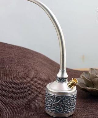 Sterling S925 925 argent tuyau étui à cigarettes artisanat vintage 16.5 cm