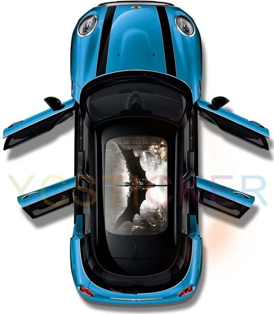 High quality custom car vinyl decals see through graphics car panoramic roof vinyl film uv protective