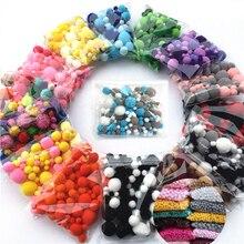 8-30mm Multi Size Colorful Pompom Mini Fluffy Soft Pom Poms Plush Ball Kid Toys Handmade Wedding Decor DIY Craft Supplies