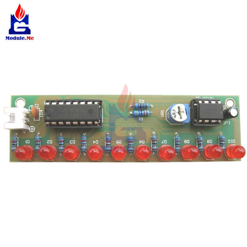 """NE555 + CD4017 практика Learing Наборы светодиодный мигающий световой модуль электронный комплект PCB люкс ЛСД-10 3-4,5 V """"сделай сам"""" для платы Arduino"""