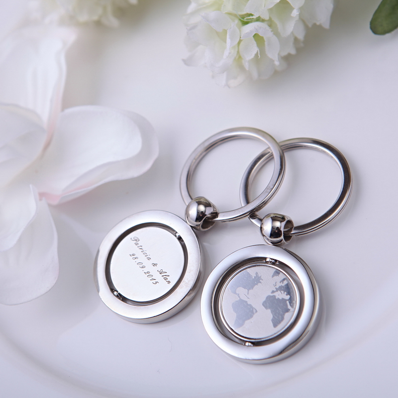 Top 100 Wedding Gifts: 100Pcs With World Map Personalized Keychain Wedding Gifts