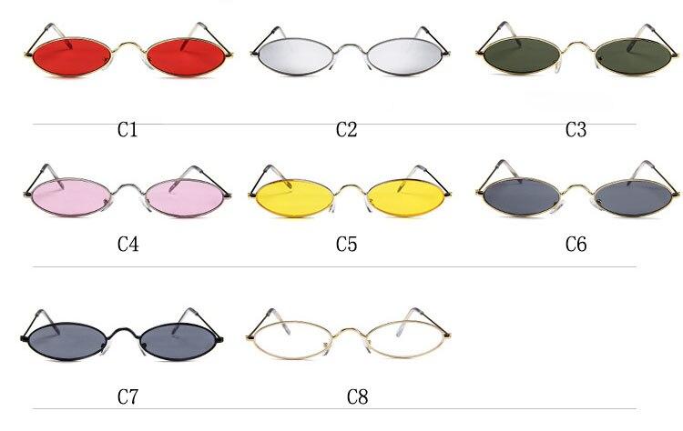 da5dc4c2b7 EL Malus] gafas de sol con montura ovalada pequeña y pequeña Sexy ...