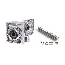 NMRV063 червячный редуктор соотношение 5-100:1 для Nema42 110 мм двигателя Максимальная выходная 160Nm 14/19/ 22/24 мм вход