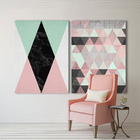 WANGART Combos Valued 2 Canvas Prints Package Minimalism Diamond Form Wall Art Pictures For Living Room