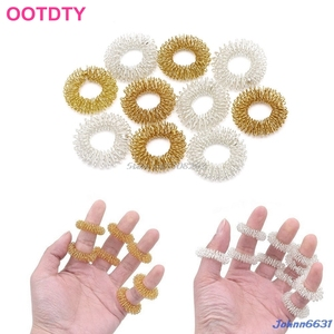 5Pcs Finger Massage Ring Acupuncture Acupressure Health Care Body Massager #Y207E# Hot Sale