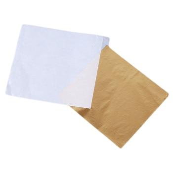 100pcs Gold Foil Decor Stickers Golden Copper Leaf Cover Leaves Sheets Art Craft Paper For Gilding DIY - discount item  43% OFF Arts,Crafts & Sewing