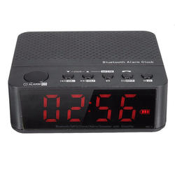 Горячее предложение! Распродажа! Bluetooth цифровой светодиодный дисплей будильник с динамиком Усилитель fm-радио MP3-плеер Черный