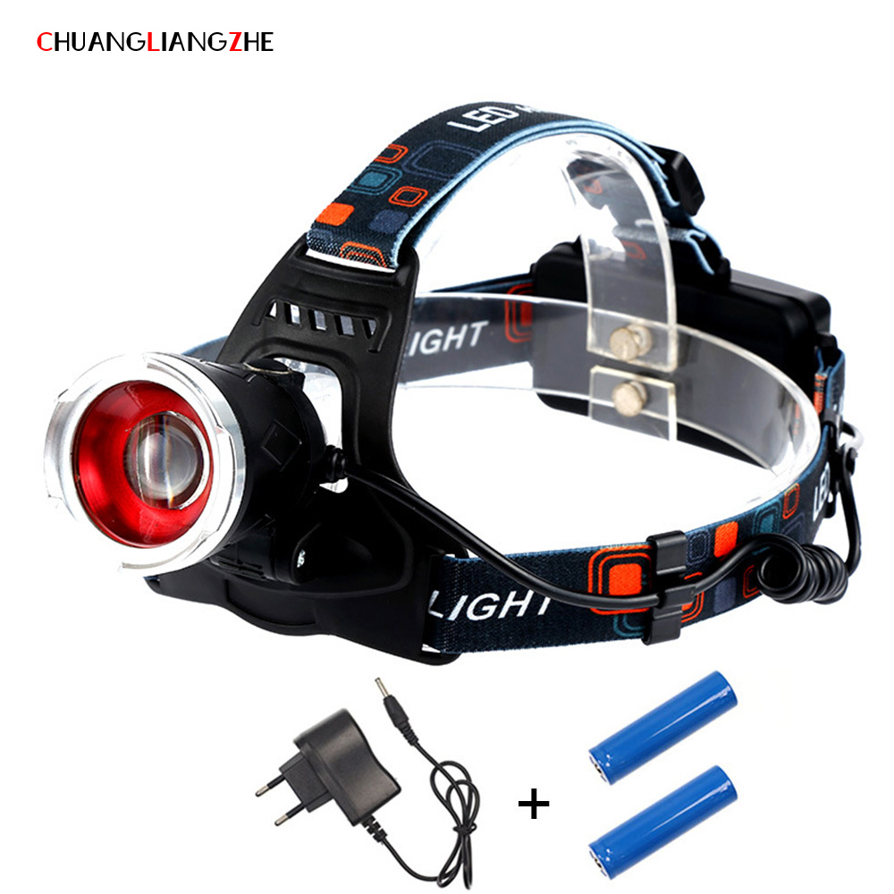 CHENGLIANGZHE LED T6 Headlight Led Mining Light Headlamp 18650 Charge Stretching Focusing Zoom Head Led Lamp