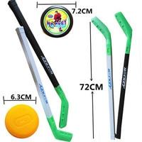 4pcs Set Kids Child Ice Hockey Plastic Stick Training Tools 2xSticks 2xBall Sports Toy For Less