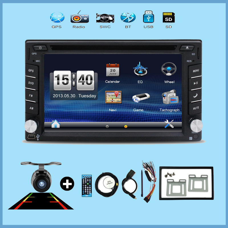 imágenes para Multimedias del coche grabadora cassette player 2 din radio Del Coche DVD GPS Reproductor de navegación GPS/Radio/MP3/Bluetooth/Volante