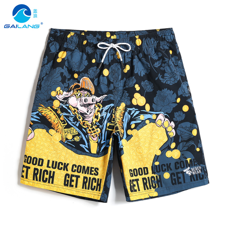 Men's bathing suit Summer beach mesh   shorts   hawaiian quick dry surfing joggers plavky swimwear camouflage   board     shorts   briefs
