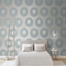 Modern minimalist floral pattern geometric tooling TV background wall