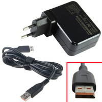 20V 2A 40W Laptop AC Power Supply Adapter USB Plug Wall Charger Cord Cable For Lenovo