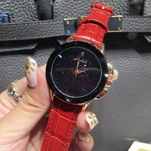 Nuevo elegante de cristal relojes de moda de lujo lleno de diamantes relojes para mujer regalo de la señora de cuero wirstwatch relojes mujer 2016