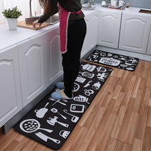 New Kitchen Mat Cheaper Anti-slip Modern Area Rugs Living Room Balcony Bathroom Carpet Set Doormat Bath in The Hallway