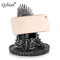Game of Thrones the Iron Throne Model Toys Song Of Ice And Fire Sword Chair Mobile phone holder Desk Resin Process Gift