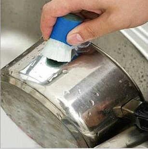 Высокотехнологичный инструмент для волшебной очистки из нержавеющей стали, металлический инструмент для удаления ржавчины, приспособление для мытья кастрюль, кухонное приспособление-кисть, 6 шт./партия