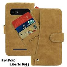 Vintage Leather Wallet Doro Liberto 8035 5 Case Flip Luxury Card Slots Cover Magnet Stand Phone Protective Bags vintage leather wallet echo dune 5 case flip luxury card slots cover magnet stand phone protective bags