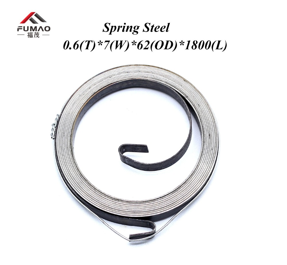 Купить с кэшбэком FUMAO Cheap flat wire spiral spring constant force spiral springs with low price supplier 0.6X8X40X1000mm