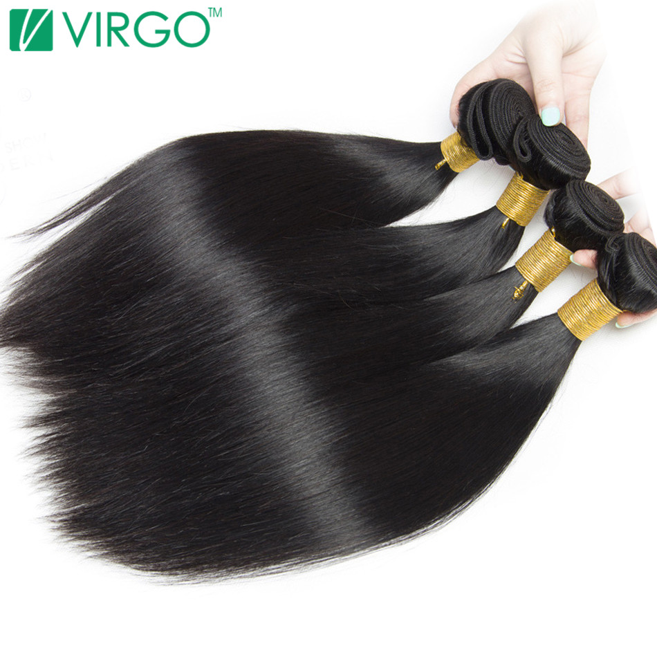 Peruvian Straight Hair 100 Human Hair Extensions Natural Black 1 Piece Non Remy Can Buy 3