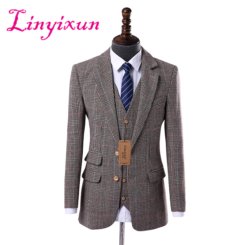 L costume mariage homme three piece suit High-end Quality men suit for wedding suits 2017 tailored formal male suit