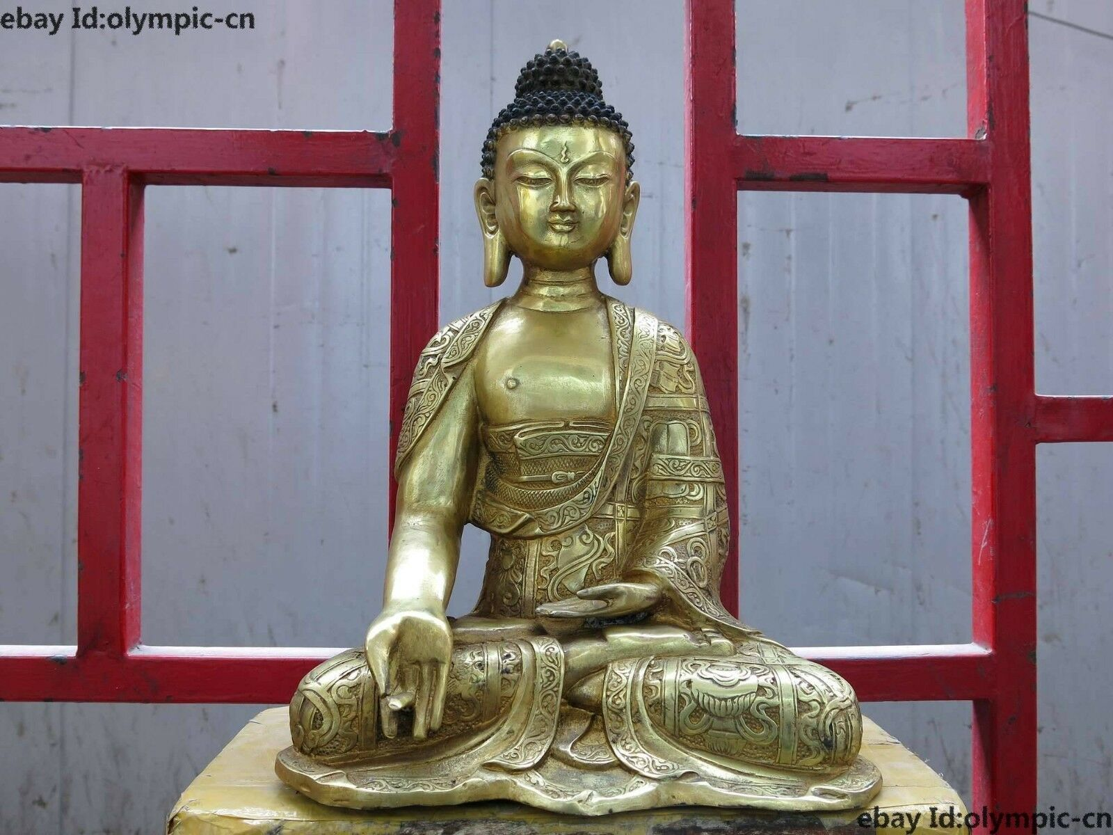 16 China bronze gild carved eight treasures buddhism Shakyamuni buddha Statue16 China bronze gild carved eight treasures buddhism Shakyamuni buddha Statue
