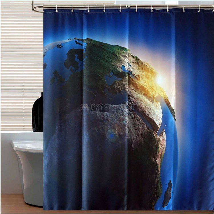 Creation of light partition Personalized Shower Curtain Waterproof Polyester Fabric bath room Curtain 180CM*180CM vivid deor