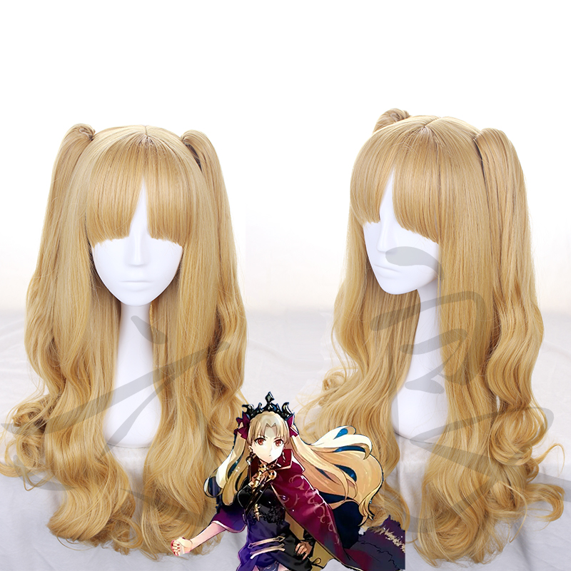 Stay Night FGO Fate Grand Order Ereshkigal Cosplay Wig Ponytails Wavy Synthetic Hair Ban ...
