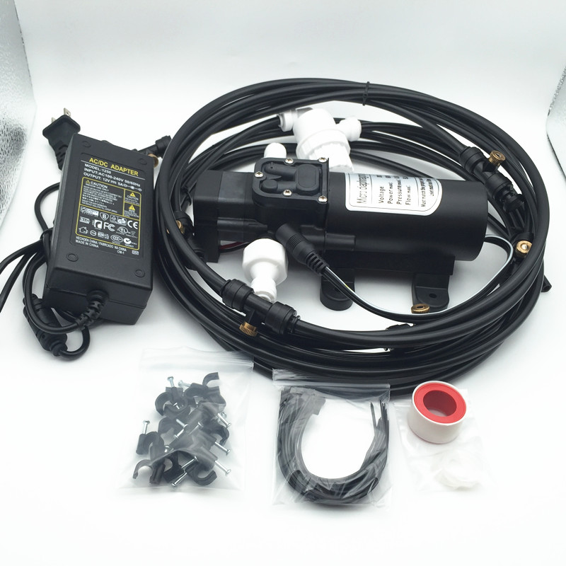 A029 DC 12 V pompe de brumisation de pression 160PSI Booster pompe à eau à membrane avec 6 M Kits d'arrosage de brumisation