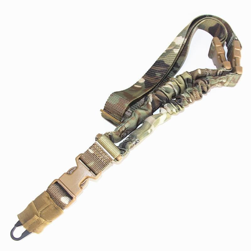 Тактическая Одиночная одноточечная двухточечная винтовка для охоты военный банджи M4 AR15 оружие АК слинг для страйкбола ремешок аксессуары ...