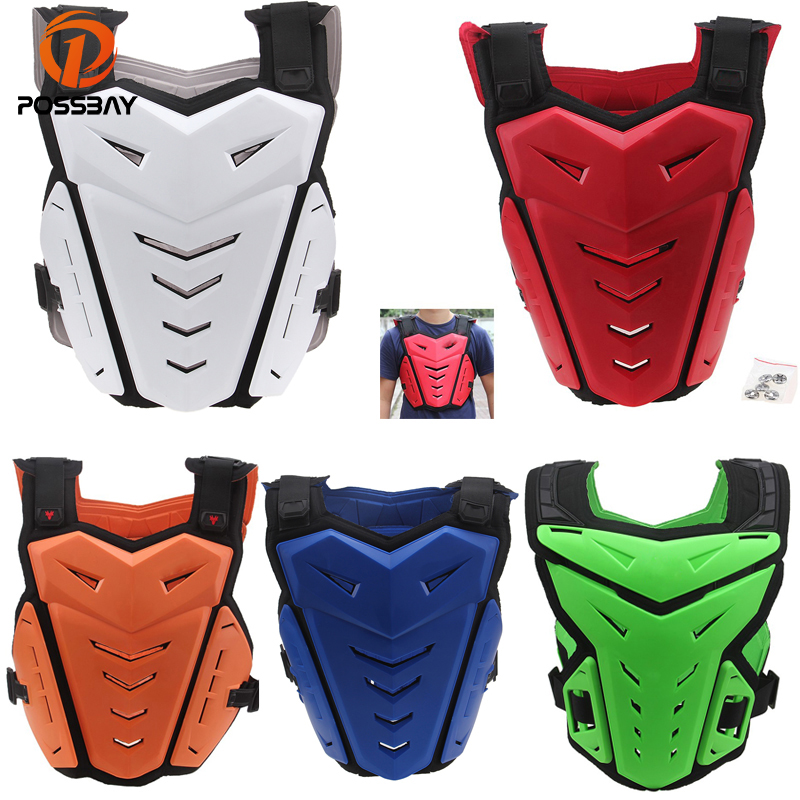 POSSBAY Motorcycle Armor Jacket Outdoor Sports Protector Racing Motocross Dirt Bike Kids Body Armour Off Road