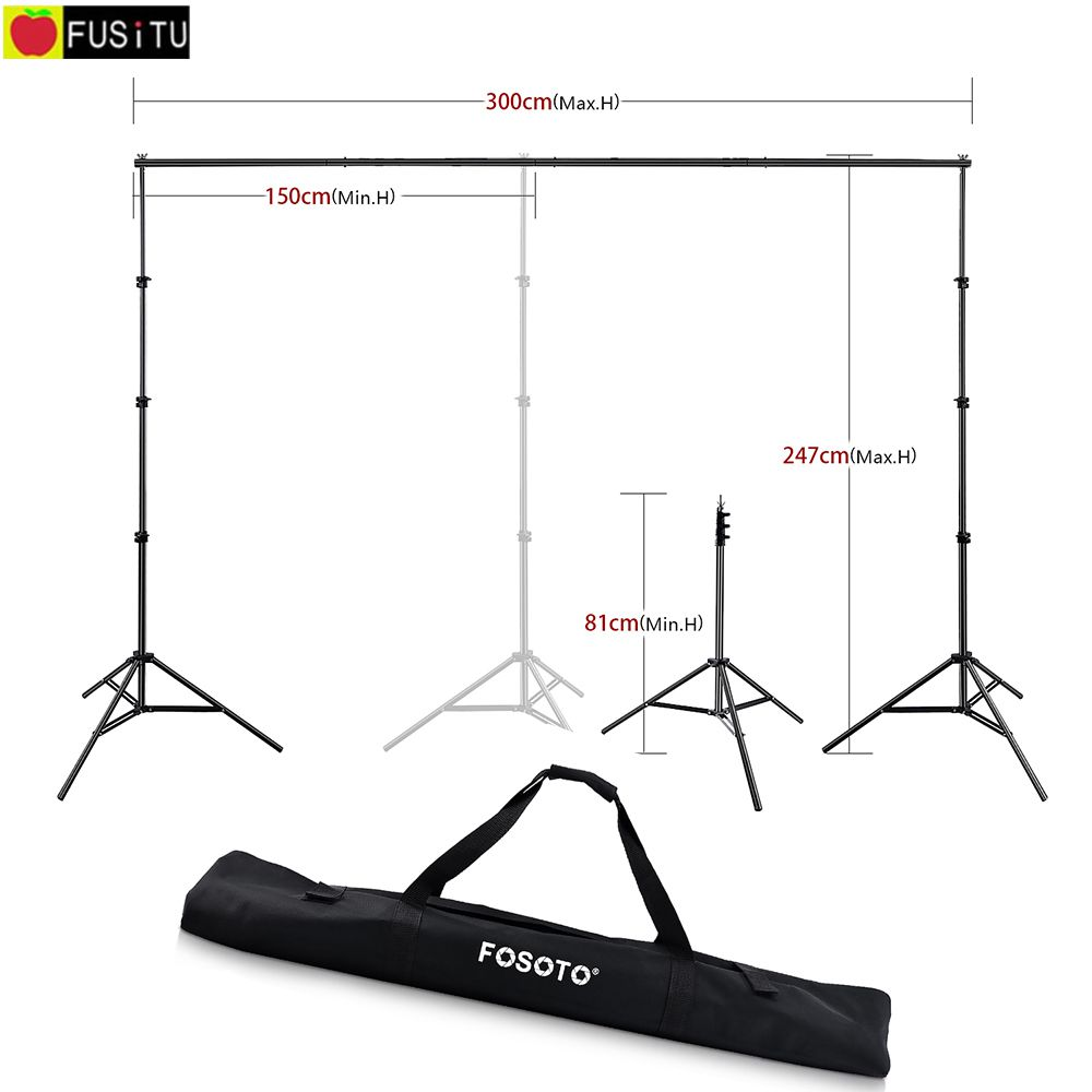 Fusitu 2.6*3M Background Frame Background Support System Stand photography Studio Backdrops Frame For Photo Shoot With Carry Bag(China)