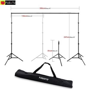 Image 1 - Fusitu 2.6*3M Background Frame Background Support System Stand photography Studio Backdrops Frame For Photo Shoot With Carry Bag