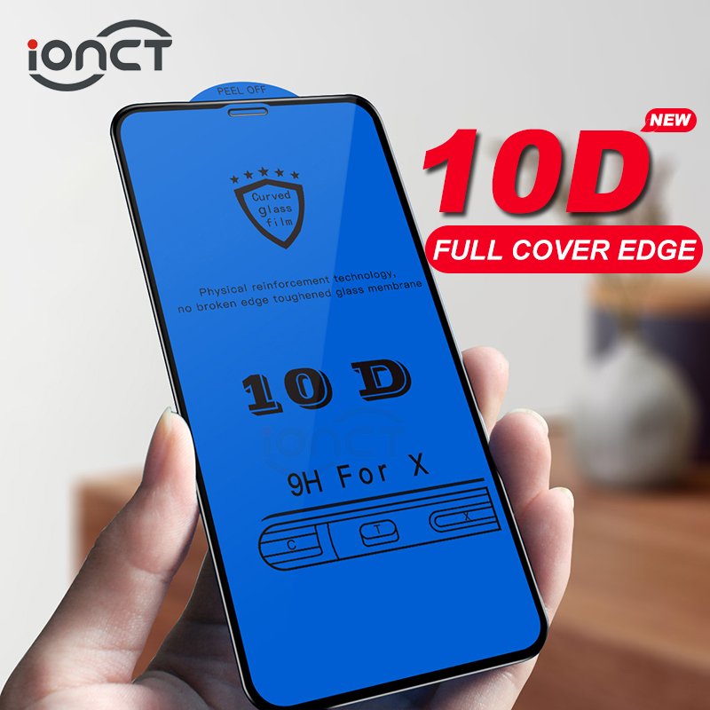 9cff8518aae iONCT 10D cristal templado para iphone 6 6s 7 8 vidrio en cristal templado  iphone X Xr Xs Max protector pantalla iphone 7 8 plus protección de vidrio  ...
